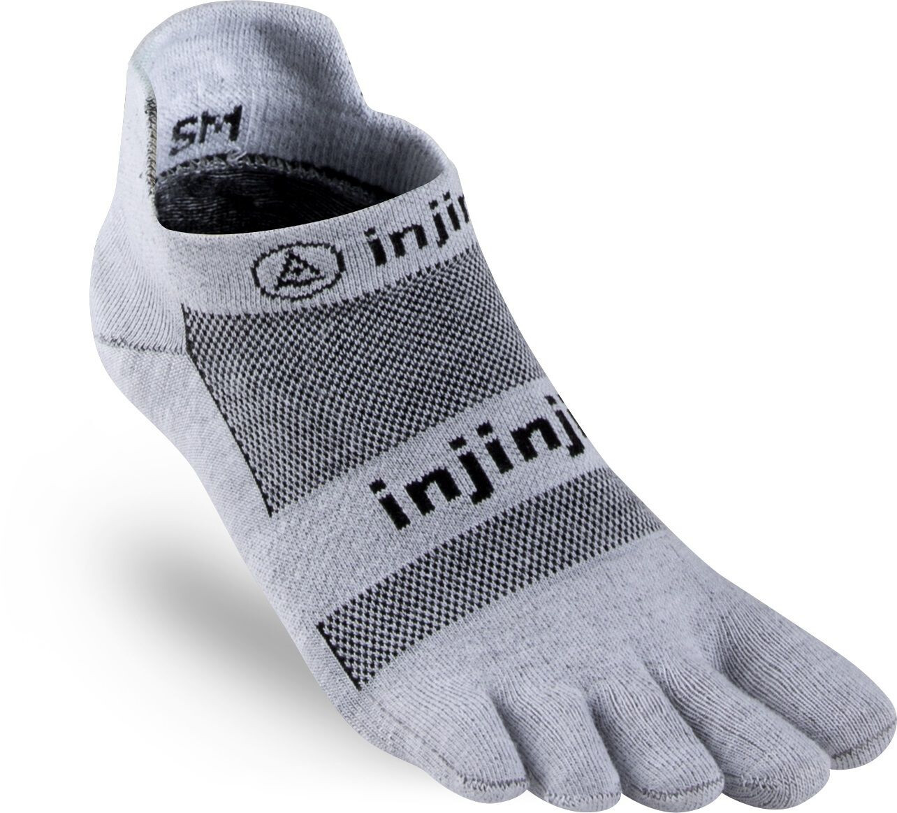 Injinji Run Xtralife Lightweight No Show Socks Herren gray